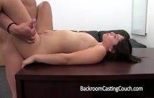 Sexy brunette creampied on the casting