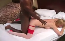 MILF creampied by a black dude