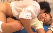 Japanese gangbang with creampie