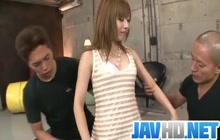 Japanese girl creampied by 2 dudes