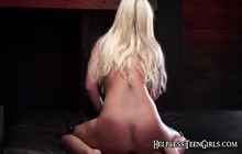 Blonde angel bound, fucked, and jizzed