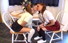 Two schoolgirls love anal